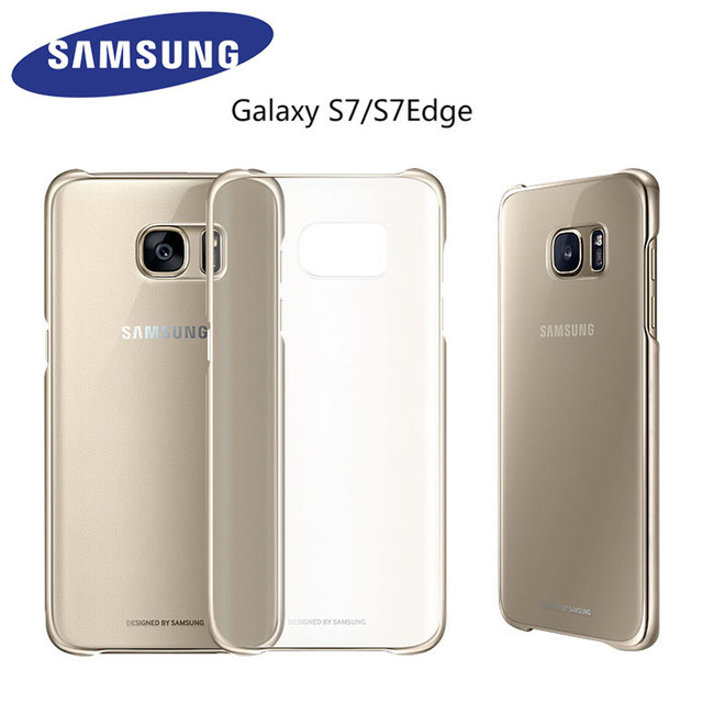 big sale d43af 6f194 US $4.6 |Original Samsung Galaxy S7 S7 Edge Case Transparent Hard PC Back  Cover Ultra Slim Clear Protective Case For Samsng S7 G930 G935-in ...