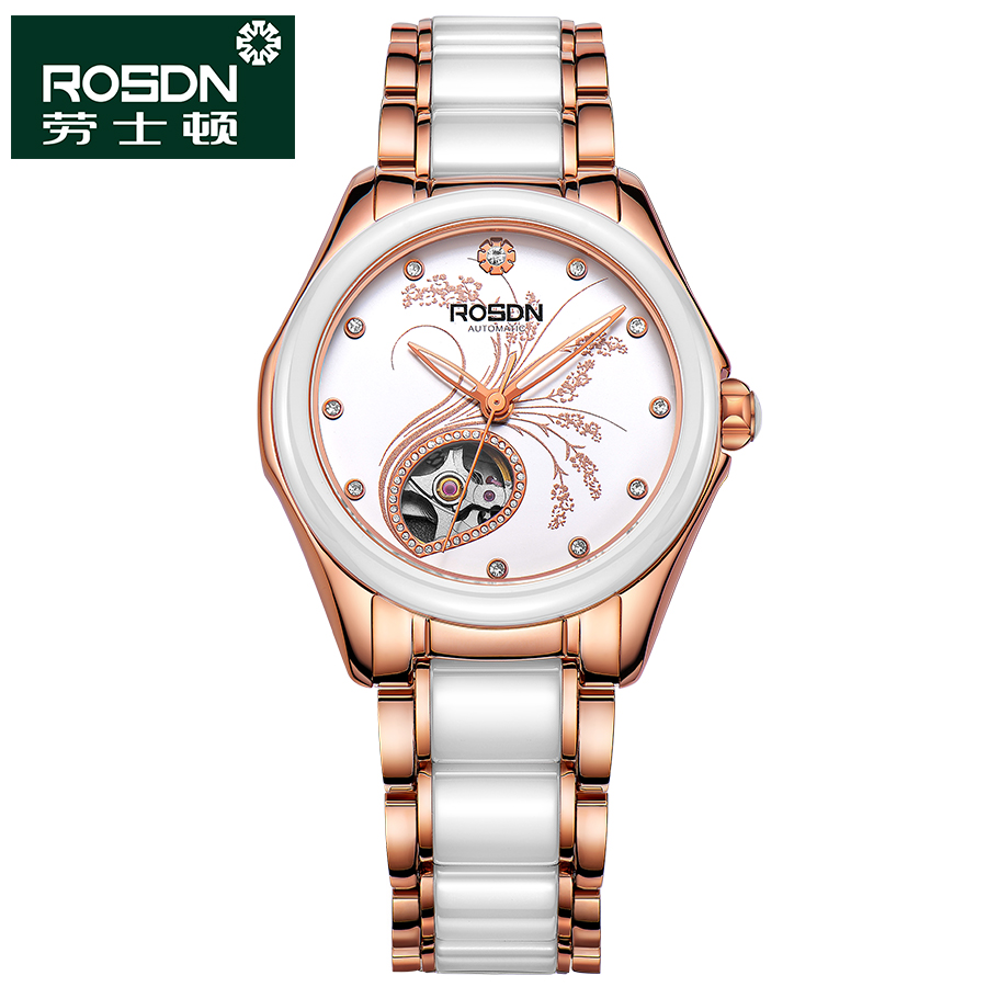 ROSDN 2016 Watch Women Brand Luxury Fashion Casual Mechanical Ceramic Watches Lady Relojes Mujer Women Wristwatches