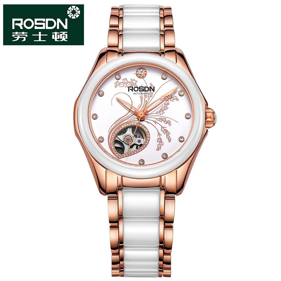 ROSDN 2016 Watch Women Brand Luxury Fashion Casual Mechanical Ceramic Watches Lady Relojes Mujer Women Wristwatches