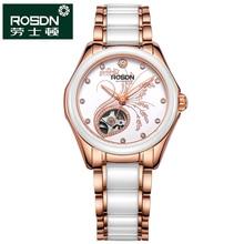 ROSDN 2016 Часы Женщины Марка Роскошные Мода Повседневная Механические Керамические Часы Леди Relojes Mujer Женщины Наручные Часы Платье Девушки