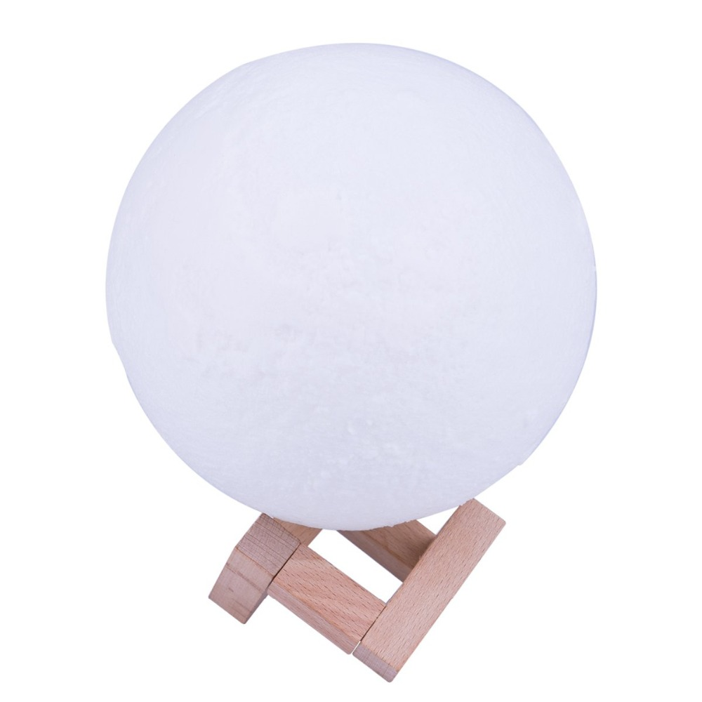 3D Moon Lamp,LED Light Home Decoration,Office,Living Room, Dimmable,Lunar Bedside Night Light For Children, with Wooden Stand