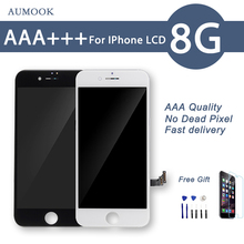 купить 10pcs/lot Quality AAA No Dead Pixel LCD Display For iPhone 8 LCD Screen Touch Digitizer Assembly Test by DHL Free Shipping по цене 14322.35 рублей