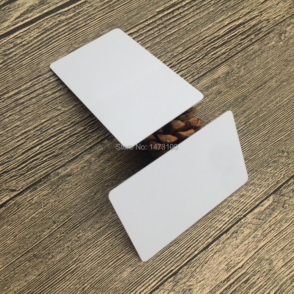 free shipping 20pcs white business card PVC 13.56MHz MIFARE card ...