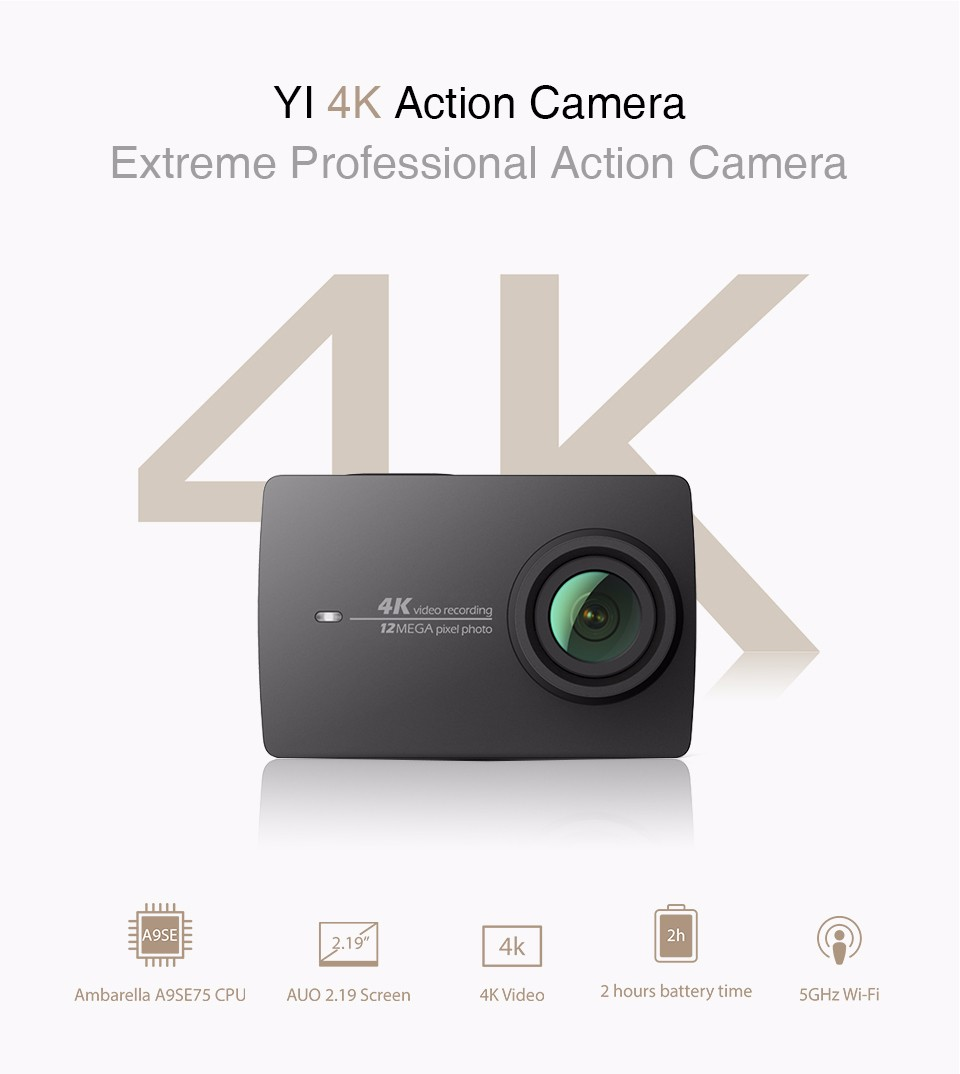 US $149 99 |Xiaomi YI 4K Action Camera International Ambarella A9SE Mini  Sports Camera 2 19