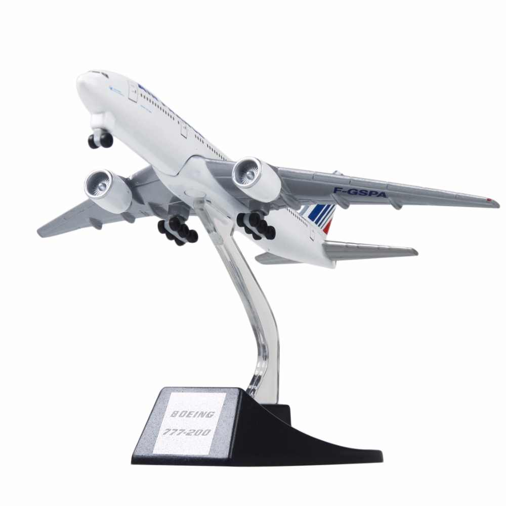 New 13cm Metal Aircraft Plane Model Air France B777 Airways Boeing 777 Airlines Airplane Model With Wheels Stand Kids Gift