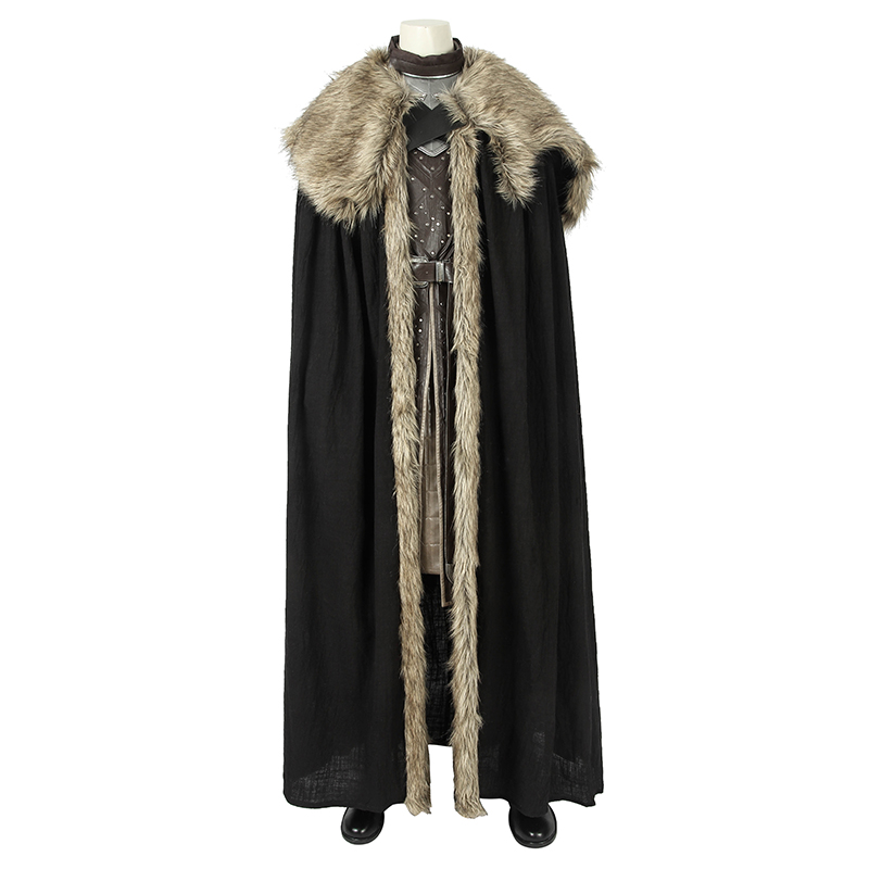 Jon Snow Cloak Cosplay Costume Season 8 Halloween Party Show Cloak Cape To Be Distributed All Over The World