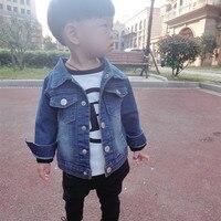 2016 New Brand Spring Autumn Kids Coat Baby Girls Boys Jacket Outwear Children Denim Jacket Cotton