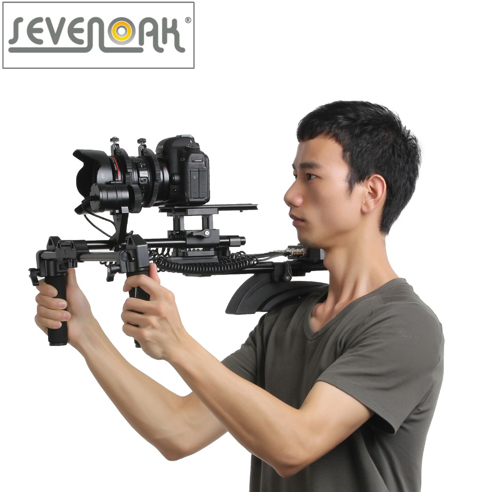 Sevenoak SK-MHF04 Memory Function Motorized Follow Focus & Zoom Control Shoulder Rig for Canon 5D2 5D3 6D 7D 70D Nikon Sony DSLR sevenoak sk vf01 2 5x lcd view finder for canon 7d 600d nikon d7000 d5100 d90 dslrs cameras camcorders