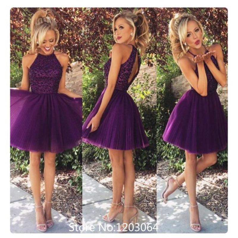 Aliexpress.com : Buy Puffy Purple Short Prom Dresses 2016 Tulle ...