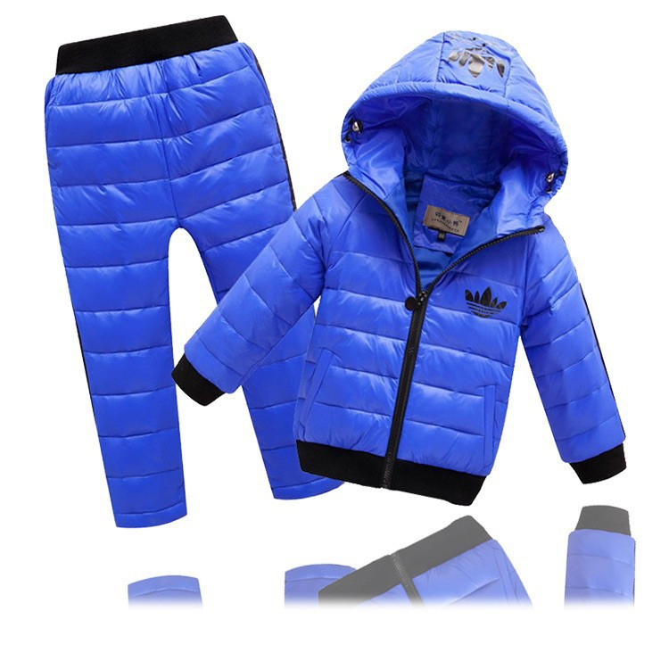 -New-Children-Boys-girls-Clothing-sets-2-8year-Hooded-Down-Jacket-Trousers-Waterproof-Snow-Warm (3)