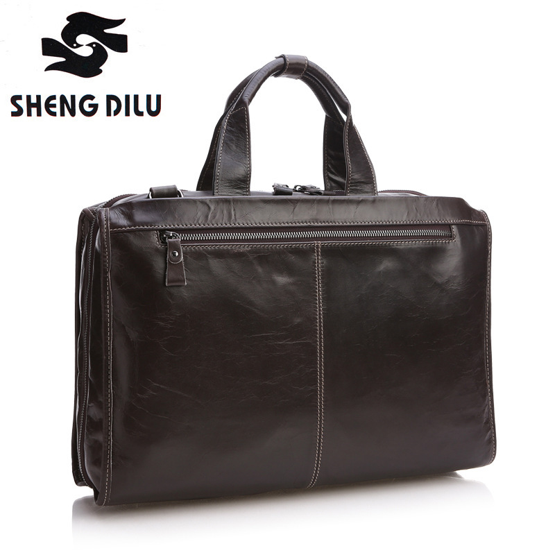 New First Layer Genuine Leather Bag Casual Men Handbags Cowhide Men Crossbody Bag Men's Travel Bags Laptop Briefcase Bag for Man baillr brand men briefcase first layer of cowhide real leather men crossbody shoulder bag men genuine leather handbag for laptop
