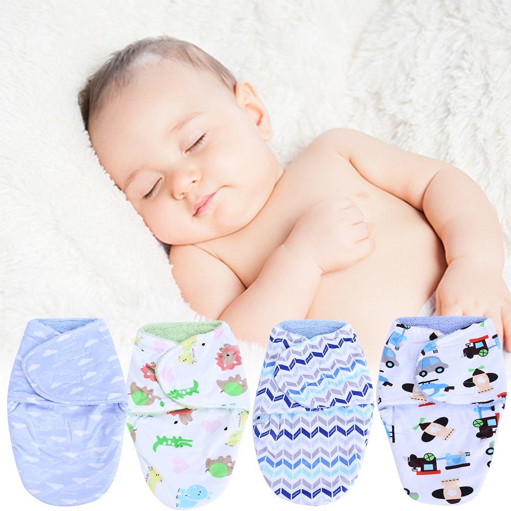 Cute Baby Sleeping Bag in a Stroller Swaddling Clothes Short Plush Newborn Bedding Infant Clothes Blanket