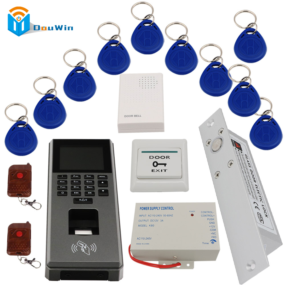 Fingerprint RFID Access control system set Control Machine Digital Scanner Sensor For Door Lock Time Attendance access DouWin fs28 biometric fingerprint access control machine electric reader scanner sensor code system for door lock