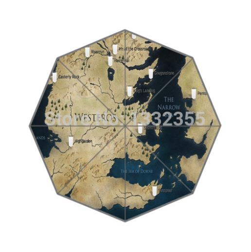 Map of Seven Kingdoms Folding Umbrella