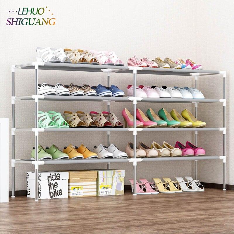 5 слоев двухрядная обувная стойка Нетканая ткань обувь Органайзер шкаф для хранения сборка обувной шкаф для дома гостиная мебель