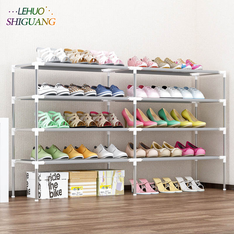 6 Layers Double row Shoe rack Non-woven fabric Shoes organizer storage cabinet Assembly Shoe cabinet home living room Furniture single row 9 grid shoe rack non woven fabric organizer storage cabinet assembly shelf shoe cabinet home living room furniture