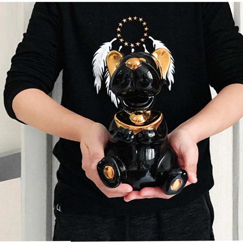 Personalità Creativa di Cane Scarpe a Forma di Lingotto D'oro Imitazione Cute Dog Armadio Soggiorno Ornamento Famiglia Decorativo Artigianato di Ceramica - 5