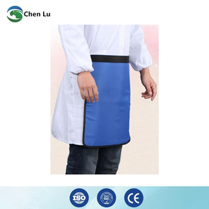 Image 4 - Genuine adult gonadal protection 0.5mmpb half lead apron medical gamma rays and x ray radiation protective square scarf