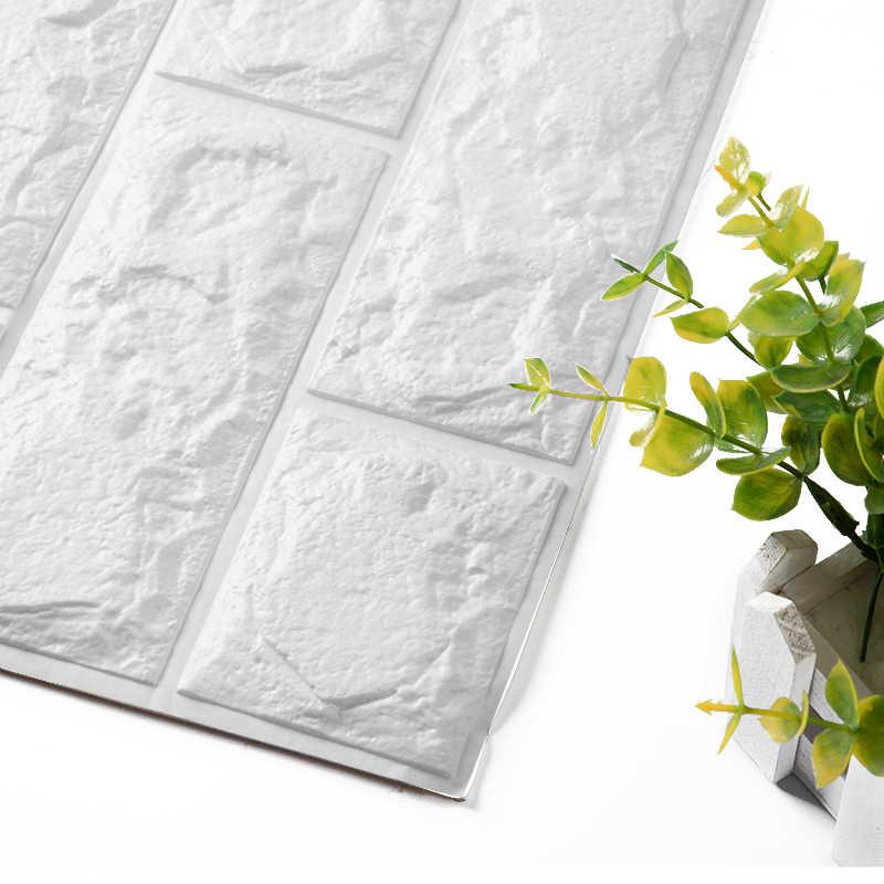 ホット販売 PE 泡 3D 壁紙 Diy 壁ステッカー壁の装飾エンボス加工レンガ石壁紙ルームハウス 60 × 30 × 0.8 センチメートルポスター