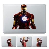 Gooyiyo laptop skórka naklejka osobowość DIY wzór Iron Man częściowa winylowa tablica naścienna do Macbook Air Pro Retina 11 12 13 15 w Skórki do laptopów od Komputer i biuro na