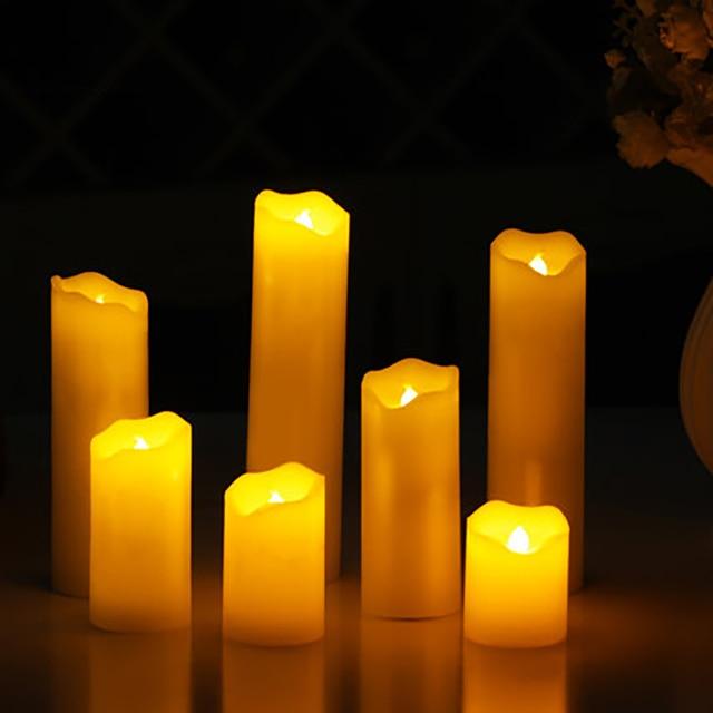 Candele Di Cera.Decorativo Domestico Elettronica Led Candela Lampada Bougies Anniversaire Candele Di Cera Senza Fiamma Pilastro Bar Natale Home Decor Qqz296 In