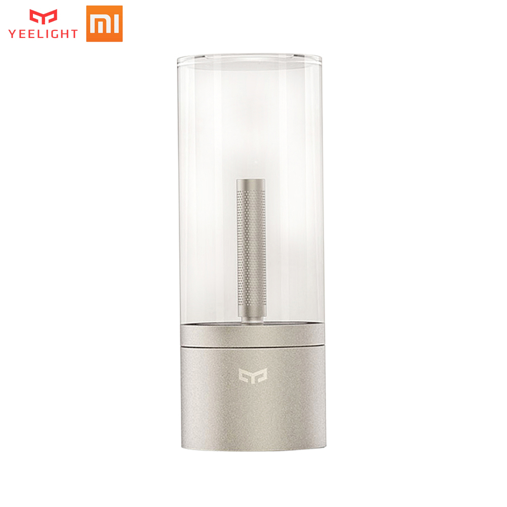 Nouveau xiaomi YEELIGHT Candela contrôle intelligent led veilleuse, lumière d'ambiance pour mi home app, kits de maison intelligente xiaomi