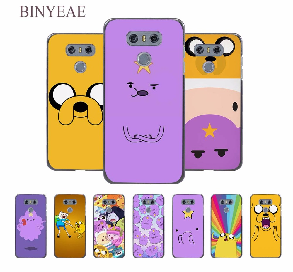 BINYEAE adventure time design hard black Case for LG G6 G5 G4 G3 V20 V10 K8 K4 K3 2017 k10 2017EU LG stylus3