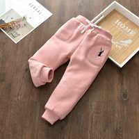 Cold winter trouser pants for Baby Girls Child Pants Winter Autumn Bottoms Kids Baby Toddler Inside Warm Fleece Leggings girls