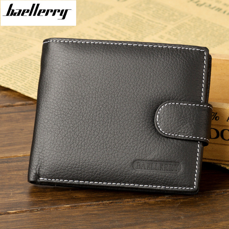 Wallet Men Leather Wallets Male Purse Money Credit Card Holder Genuine Coin Pocket Brand Design Money Billfold Maschio Clutch men wallet male cowhide genuine leather purse money clutch card holder coin short crazy horse photo fashion 2017 male wallets