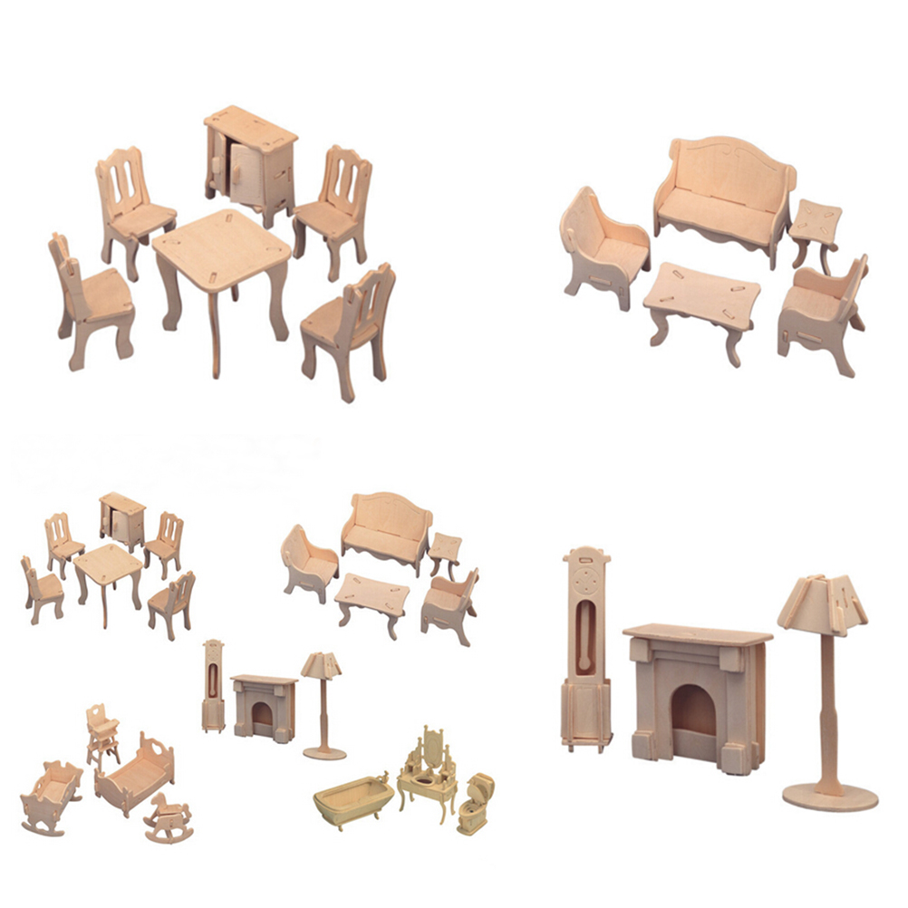 Hot Sale Doll House Mini Miniature Furniture Educational Dollhouse Furniture  Toy Wood Building Model Home Decoration. Popular Model Homes Buy Cheap Model Homes lots from China Model