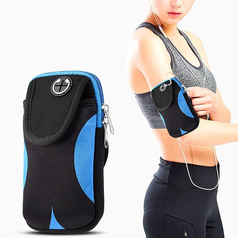 Saco Para O Telefone Na Mão Sports Correndo Armband Case Bag Capa Armbands Universal Do Telefone Móvel Titular Sacos De Desporto Ao Ar Livre Braço bolsa