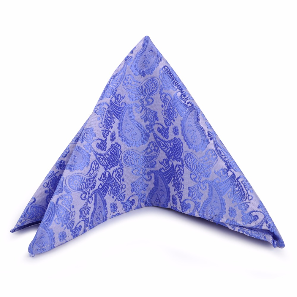 CiciTree New Men Paisley Jacquard Pocket Square Silk Polyester Men's Handkerchief For Bussiness Wedding Boys Father's Day
