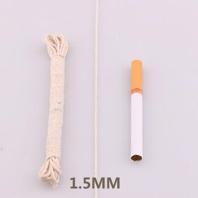 5yd/лот высокопрочный натуральный цвет 3ply круглый плоский канат хлопок шнуры для дома ручной работы аксессуары для одежды проекты рукоделия - Цвет: round 1mm