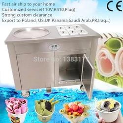 Air bezpłatny statku 2017 50 cm tava dondurma makinesi mrożone maszyna do wyciskania soku maszyna do lodów tajskich zamrażania jogurt w Maszyny do lodów od AGD na