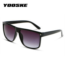 YOOSKE Square Oversized Sunglasses Women Brand Designer Retro Big Frame Sun glas