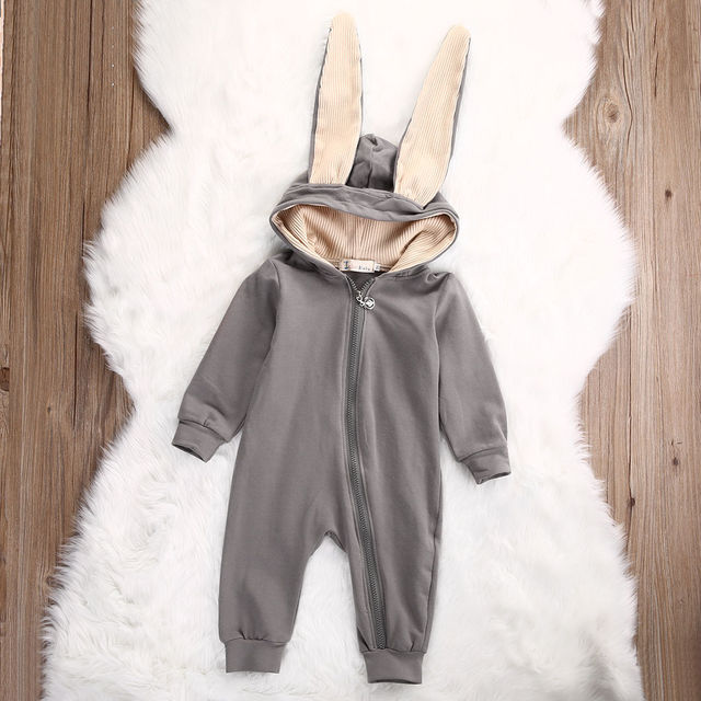 d96553c18431 2018 Cute Infant Baby Girl Boy Clothes Cute 3D Bunny Ear Romper ...
