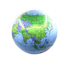 30cm Inflatable Globe World Earth Map Ball Educational Beach Toy home office&school supplies Gift stationery for school