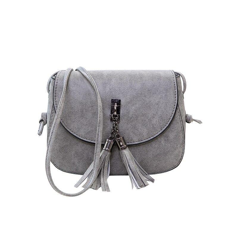 2017 New Tassel Female Shoulder Bag Retro Small Korean Version Sweet Wave Wild Shoulder Bag Simple Fashion Oblique Bag for Girls tassel bag backpack 2018 korean new