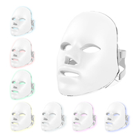 Light Skin 7 Color LED Mask For Face Neck Spa Anti Wrinkle Acne Removal Neck Skin Rejuvenation Photon Therapy Machine Beauty