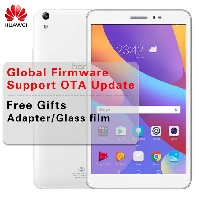 US $189 99 |Global Firmware Huawei Honor Tablet 2 Ultra Slim 8 0 inch  1920*1200 Android 6 0 WIFI Tablet Octa Core Snapdragon MSM8939-in Tablets  from
