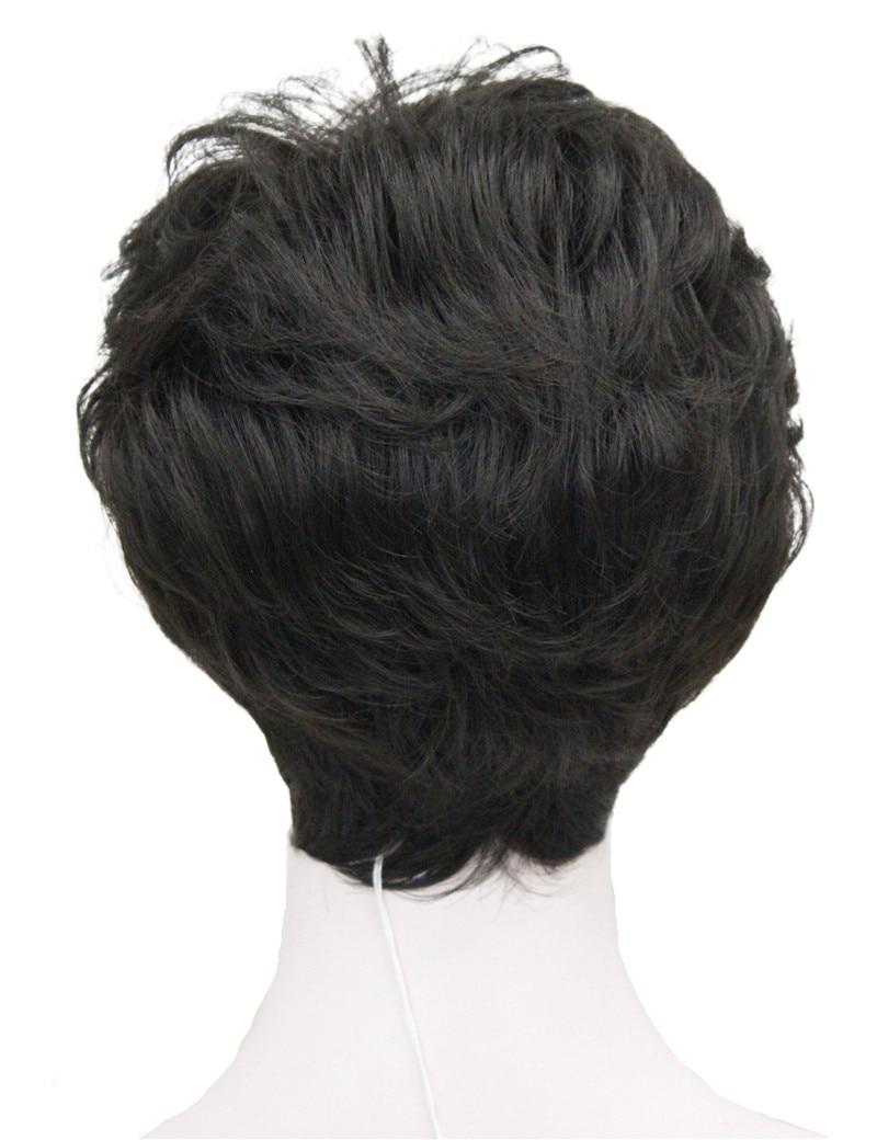 StrongBeauty Shag стиль синтетические парики короткие волнистые слоистые темно-Обурн пользовательские парики для афро-американских - Цвет: 4