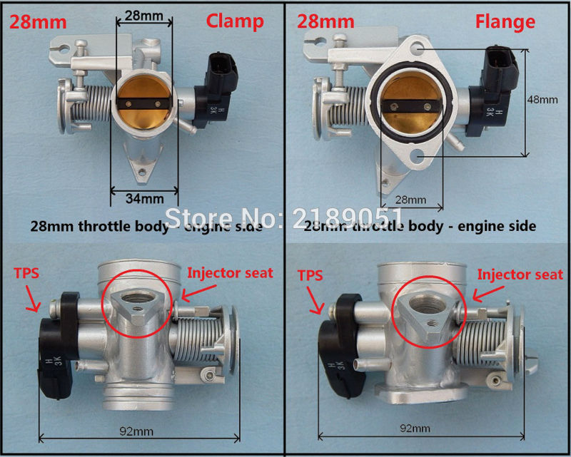 US $68 4 5% OFF|Throttle body valve for Small engine EFI Electronic Fuel  Injection kit motorcycle Motocross ATV buggy scooter trail 28 34 38 45-in