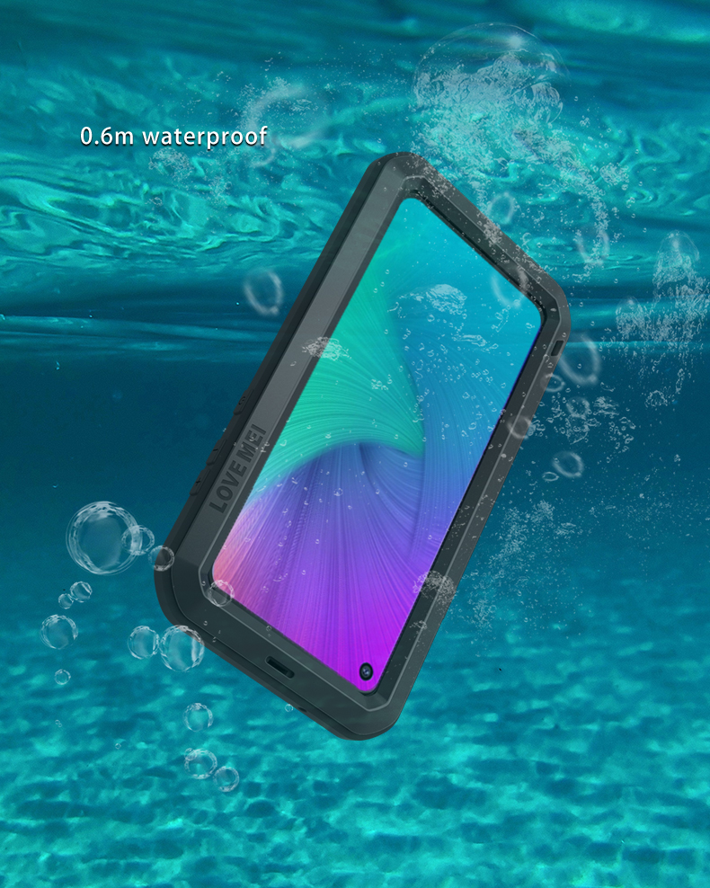 For <font><b>Samsung</b></font> Galaxy <font><b>A8s</b></font> <font><b>G8870</b></font> Case Shock Dirt Proof Water Resistant Metal Armor Cover Phone Case for <font><b>Samsung</b></font> <font><b>A8S</b></font> Waterproof Case image