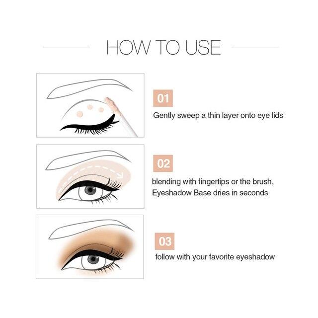 Korean Cosmetics Eyeshadow Primer for Eyes Base Foundation Makeup Liquid Freckle Covering Primer Waterproof Concealer Make up 4