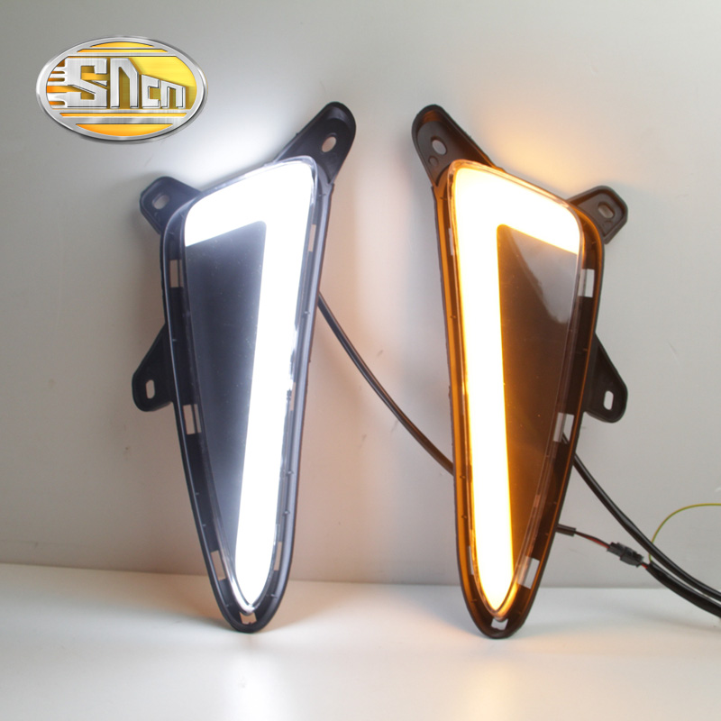 For Toyota C-HR CHR 2016 2017,Turning Yellow Signal Style Relay Waterproof ABS Car DRL LED Daytime Running Light Daylight SNCN