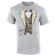 ed788db4 2019 Men Brand Clothihng Top Quality Fashion Mens T Shirt 100%Cotton Tuxedo  T-