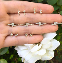 6 Pairs/Set Crystal Lightning Design Small Stud Earrings Set for Women Punk Crown Sun Star Feather Ear Aros Bohemian Jewelry(China)