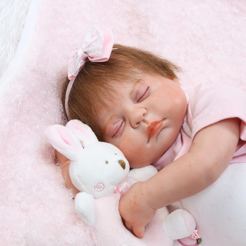 Real reborn babies girl dolls 20 full body silicone reborn dolls rooted eyelashes &hair waterproof bebes reborn bonecas Real reborn babies girl dolls 20 full body silicone reborn dolls rooted eyelashes &hair waterproof bebes reborn bonecas