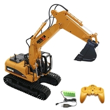 Children's Day gift HuiNa Toys 1550 15Channel 1/12RC Metal Excavator Charging RC Car RTR 2.4G