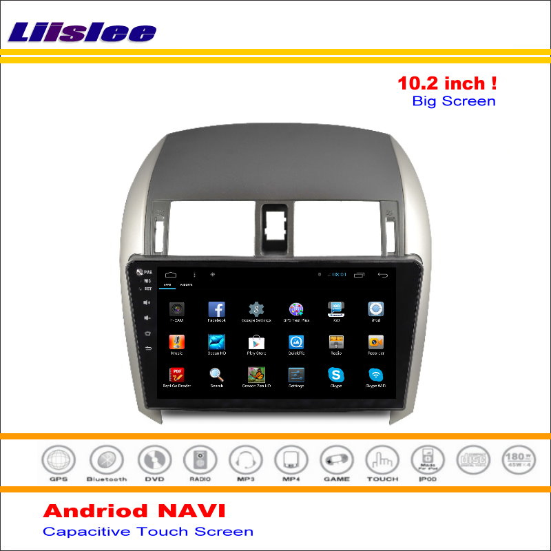 Flash Deal Liisle Android GPS NAV NVAI Navigation System For Toyota Corolla 2007~2013 Radio Stereo Audio Video Multimedia ( No DVD Player 2